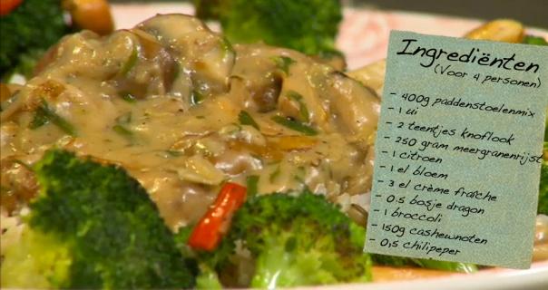 Paddestoelenragout met broccoli
