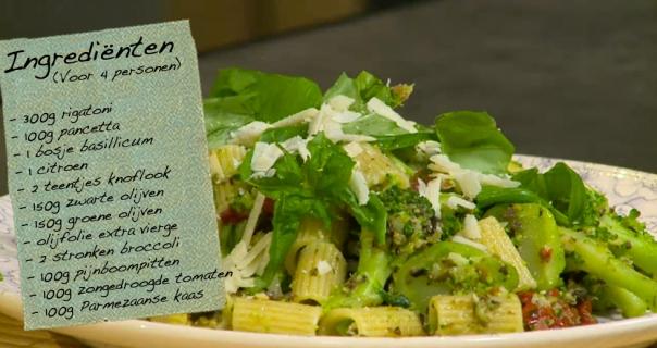 Pasta met pancetta en broccoli
