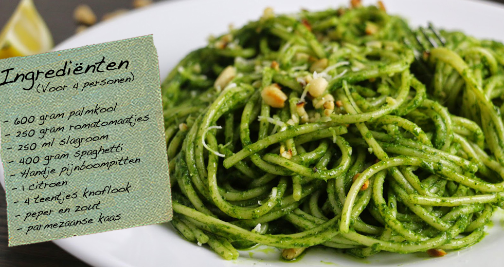 spaghetti met palmkool (cavolo nero) | naoberhoeve